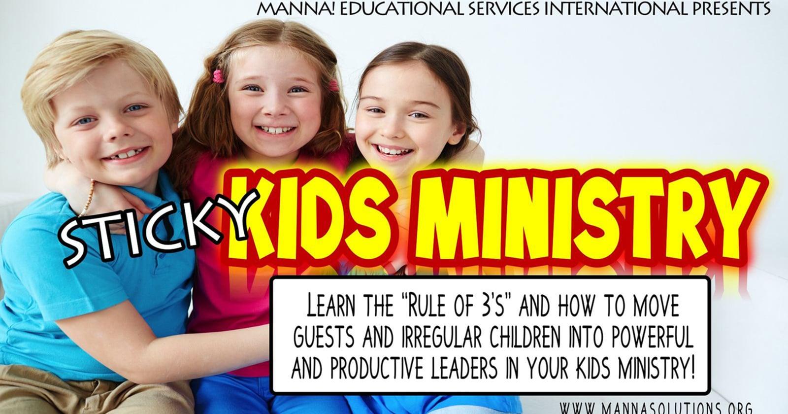 Sticky Childrens Ministry Workshop