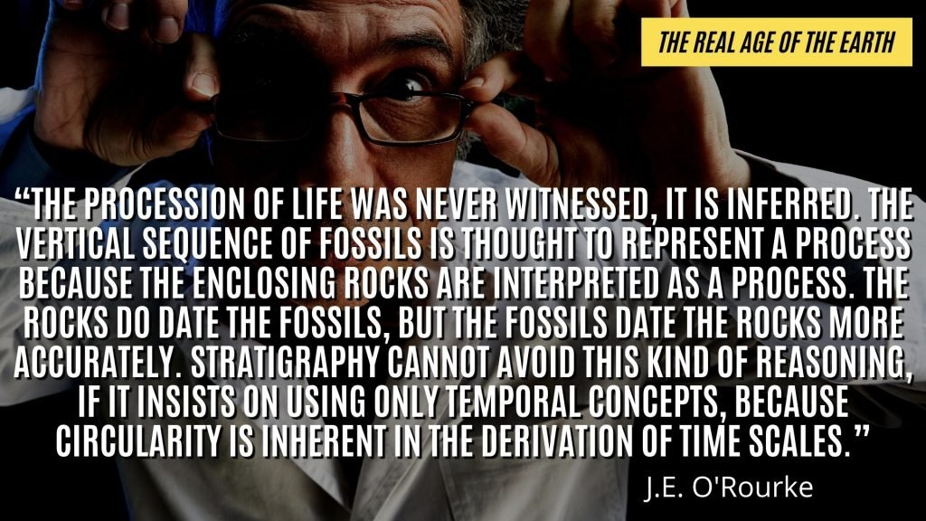 Evolutionists recognize that the AGE of the earth is mostly opinion and inference. It's impossible to precisely date.