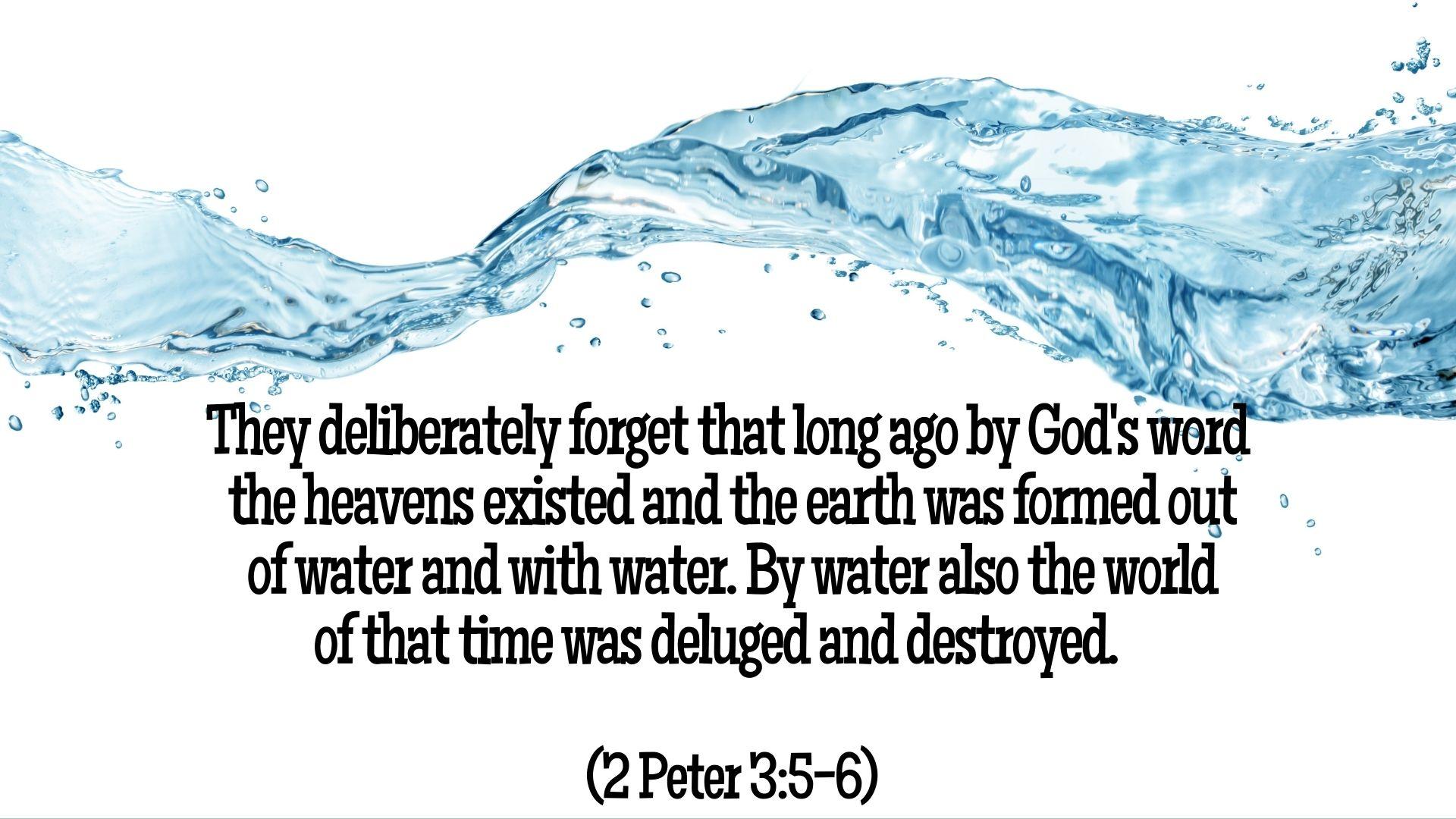 2 Peter 3.5-6